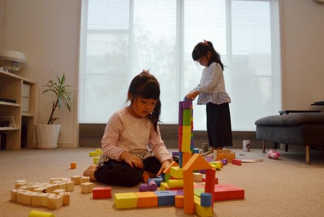知育玩具で遊ぶ
