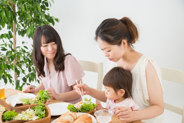 無農薬野菜を食べる