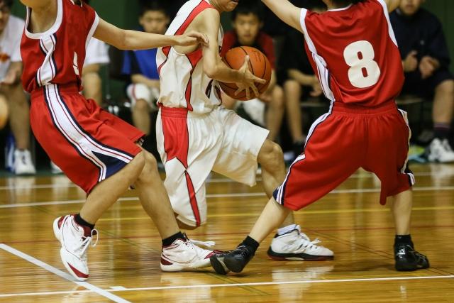 子供のバスケットボール