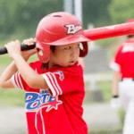 野球をやる子供