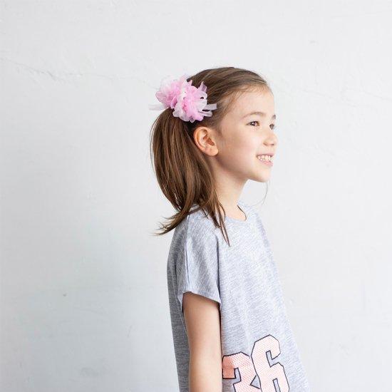 咲き編み子供ヘアゴム