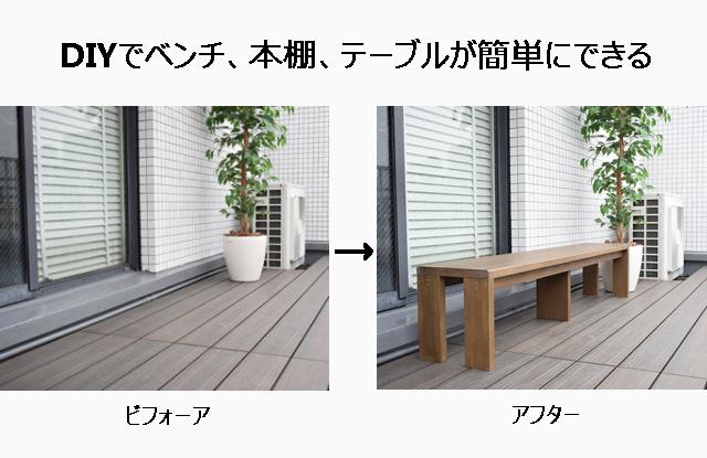 DIYでベンチを作る